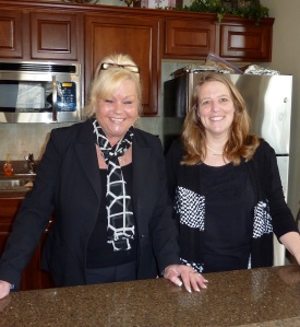 Carol and Kathy dressed for success--and alike!