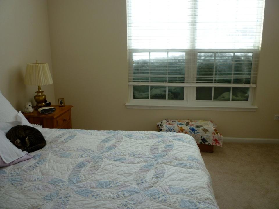 bedroom snow