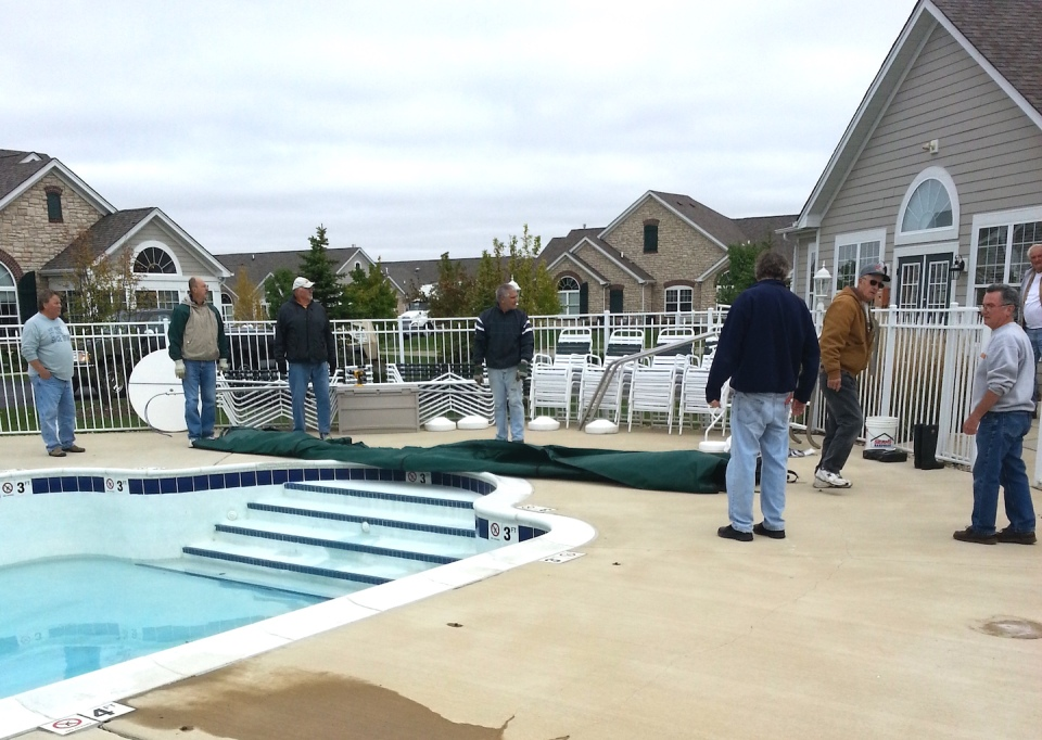 pool workers