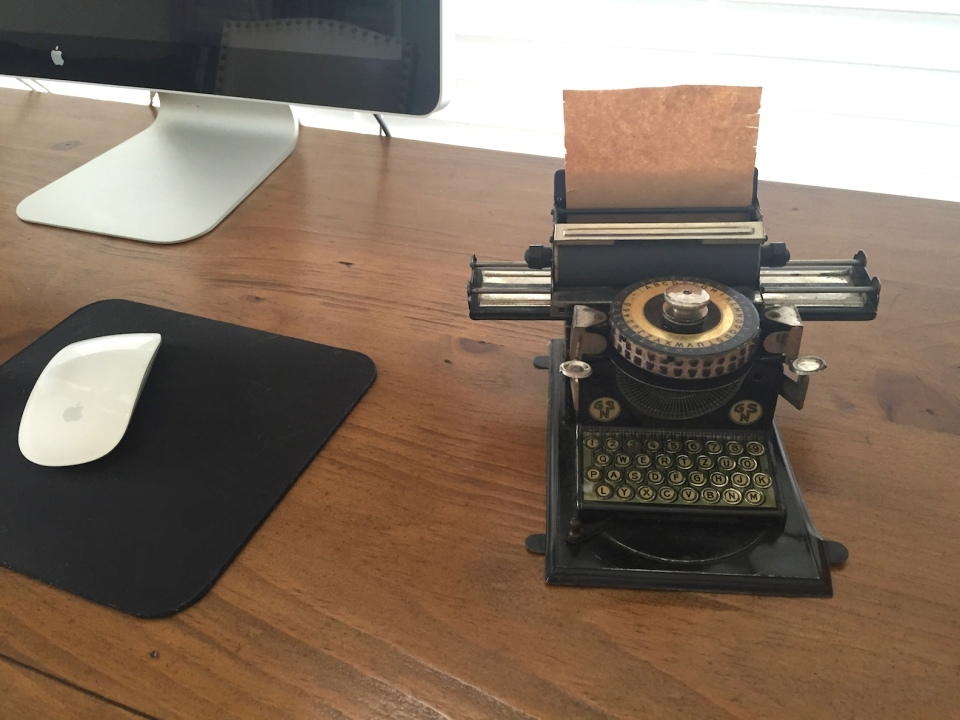 mom typewriter